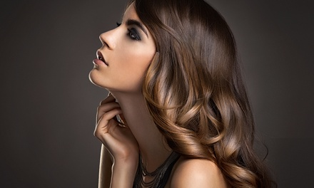 Haircut with Optional Partial Highlights or Full Color Touchup at Studio 10. Hair Salon. (Up to 50% Off)