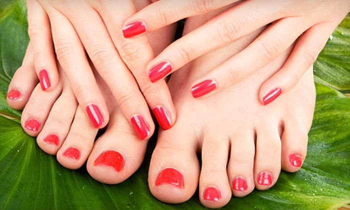 Luxe Vista Studio - Gervais Street Corridor,Downtown,Elmwood: $49 for a Shellac Manicure and Spa Pedicure at Luxe Vista Studio ($100 Value)