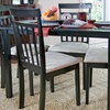 Wenge Dark Brown 5-Piece Dining Set