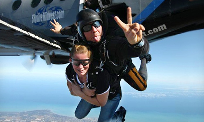 Skydive Midwest - South Milwaukee: $149 for a Tandem Jump from Skydive Midwest in Sturtevant (Up to $229 Value)