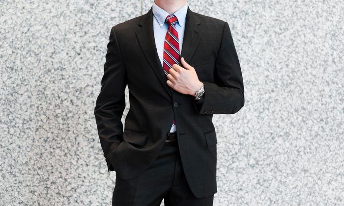 Luxury Plus - Luxury Plus: Three Custom Tailored Shirts or a Full Custom Wool Suit at Luxury Plus (Up to 76% Off)