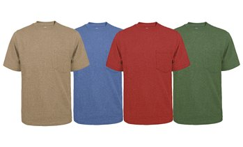 Victory Men's Fortified Cotton Pocket Crewneck T-Shirt (M-XXLT)