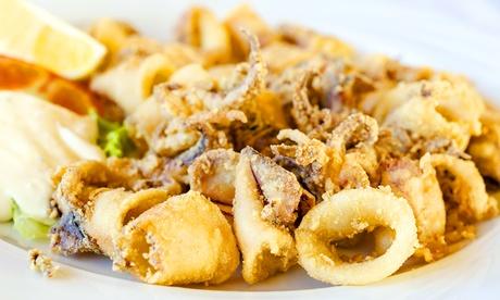 Menu gran frittura di pesce con dolce e mezzo litro di vino all'Osteria Sant'Elena