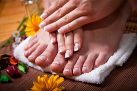 BodyGEM: Spa Package with Exfoliation, Massage, and Aromatherapy or a Mani-Pedi at BodyGEM (Up to 50% Off)