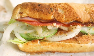 Sub And Salad Meals At Subway (up To 59% Off). Three Options Available.