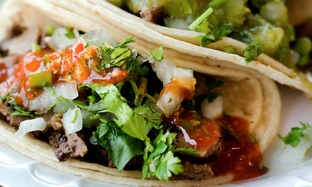 Dine-In or Take-Out at Brazil Taco Truck (Up to 50% Off). Three Options Available.