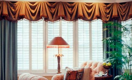 Custom Window Treatments or Plantation Shutters from Window Treatment Choices (Up to 69% Off)
