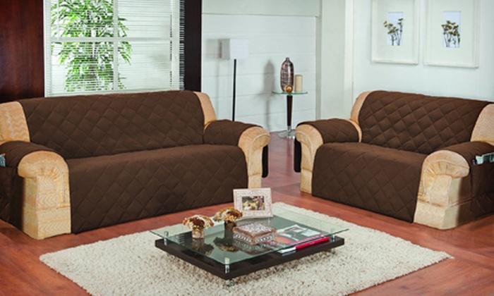 Shop Boss: Kit com capas para sofá de 2 e 3 lugares, com porta-controle, por R$ 99,90 + frete grátis