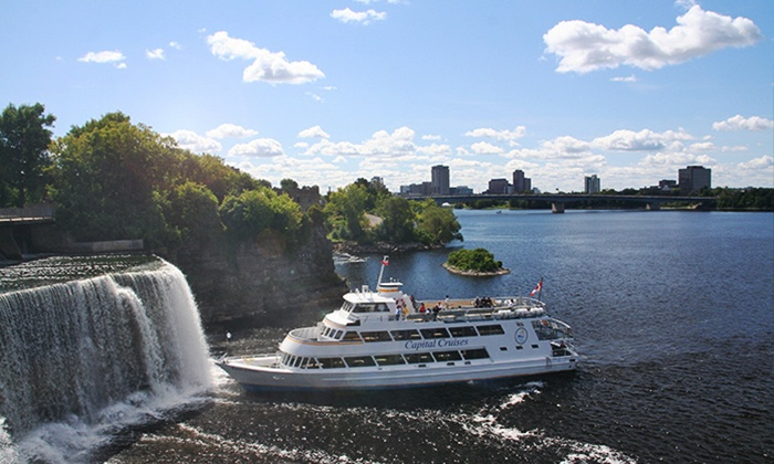 Capital Cruises - Jacques Cartier Park Wharf in Gatineau (Hull Sector): Sightseeing or Cocktail Cruise from Capital Cruises (Up to 41% Off). Multiple Dates Available.