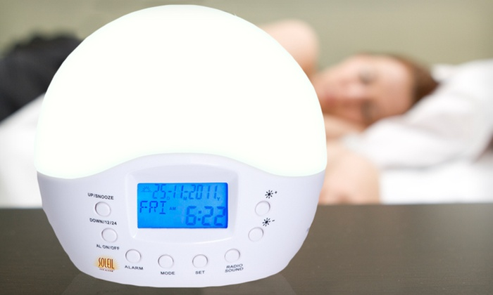 Sunrise-Simulating Alarm-Clock Radio: $40 for a Soleil Sun Alarm-Clock Radio ($89.99 List Price). Free Shipping and Free Returns.