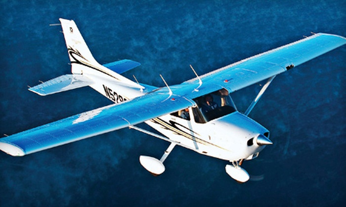 King Aviation Mansfield - Mansfield: Hands-On Flight Instruction or Two-Hour Aerial Tour of Newport Harbor from King Aviation Mansfield (Up to 76% Off)