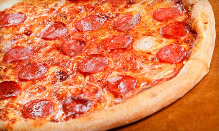 Jerseys Pizza & Grill - Hoffman Estates: Pizza Meal with Drinks for Two or Four at Jerseys Pizza & Grill in Hoffman Estates (Up to 63% Off)