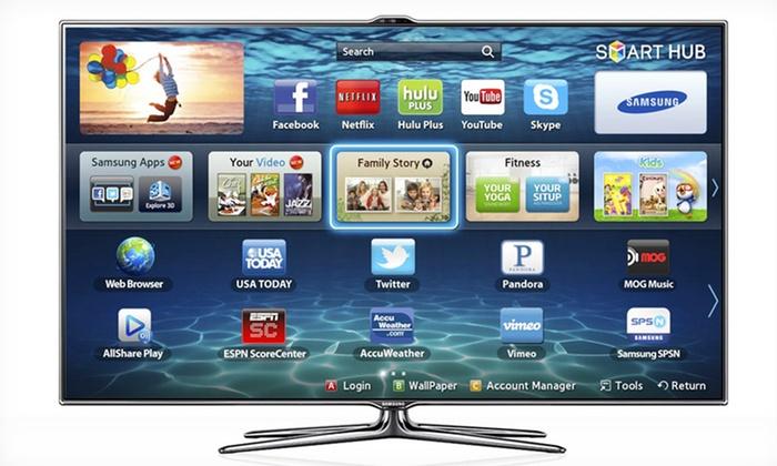 Samsung 55-Inch 3D 1080p Smart TV: Samsung 55-Inch 3D 1080p 240 Hz Smart TV (UN55ES7500). Free Shipping.