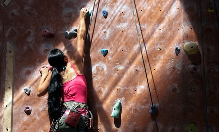 Rock-Climbing Package with Optional One-Month Membership and Gear Rental at Island Rock (Up to 69% Off)