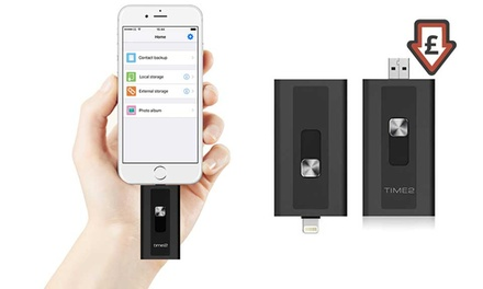 Apple Certified iExpand USB 3.0 Flash Drive for iPhone/iPad up to 256GB from £24.98 With Free Delivery (Up to 69% Off)