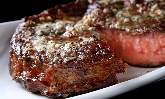 ROX City Grill - St. Charles: Prime Steaks and Seafood or Lounge Fare at ROX City Grill (Up to 44% Off)