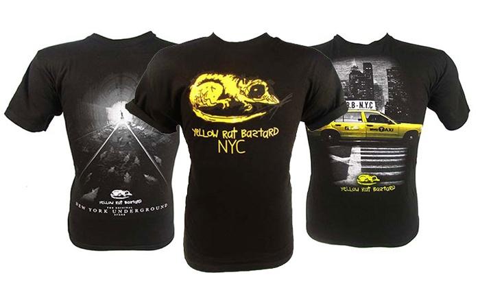 Yellow Rat Bastard - SoHo: Three, One, or Five T-Shirts, or Casual Street Apparel at Yellow Rat Bastard (Up to 42% Off)
