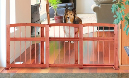 Wooden Expanding Sliding Pet Gate
