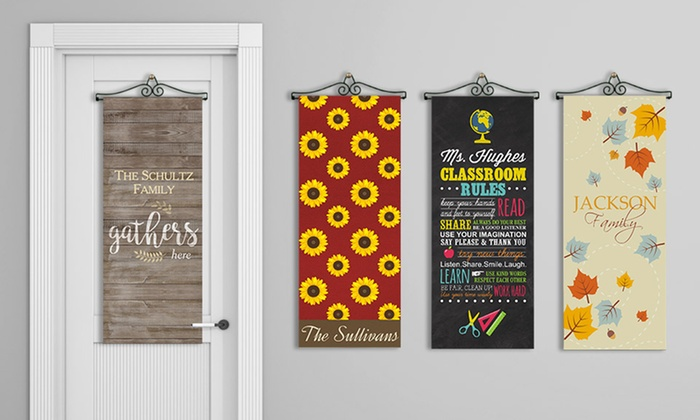 Up to 48% Off Personalized Door Banner from GiftsForYouNow.com ...  sc 1 st  Groupon & Personalized Door Banner - Giftsforyounow.com | Groupon