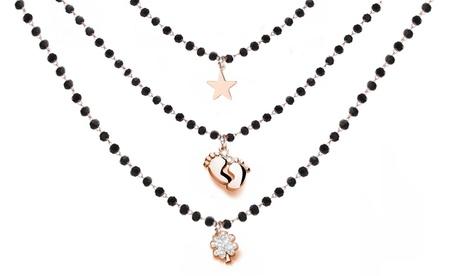 Collar tipo rosario con cristales de Swarovski®