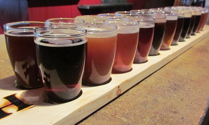 The Hideout Brewing Company - Grand Rapids: 10 or 20 Beer Samples at The Hideout Brewing Company (Up to 63% Off). Five Options Available.