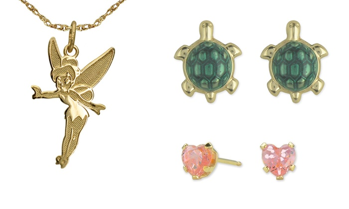 Disney Jewelry in 14K Gold: Disney Jewelry in 14K Gold. Multiple Styles Available from $19.99–$36.99. Free Shipping and Returns.