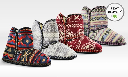 Muk Luks Knit Slipper Boots. Multiple Colors Available. Free Returns.