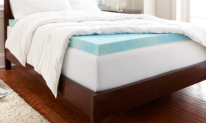 "PuraSleep Gel-Enhanced Memory-Foam Mattress Toppers: PuraSleep 2"" or 3"" Gel-Enhanced Memory-Foam Mattress Topper (Up to 67% Off). Free Shipping."