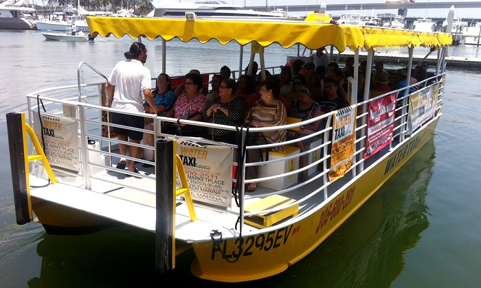 Water Taxi Miami  - Multiple Locations: Round-Trip Pass for 1 or 2, All-Day Family Pass, Xpress Water Taxi for 6 from Water Taxi Miami (Up to 50% Off)