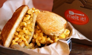 Melt It!: $7 for $18 Worth of Gourmet Grilled Cheese and Drinks at Melt It!