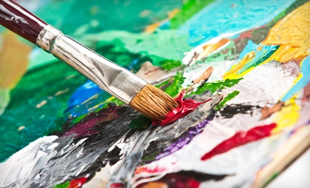 Intro to Acrylic Canvas Painting Class or a Canvas-Painting Party for 10 at Artopia Studios Inc. (Up to Half Off)