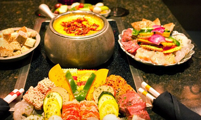 Simply Fondue - Mission Viejo: $45 for a Four-Course Fondue Dinner for Two with Wine at Simply Fondue in Mission Viejo ($100 Value)