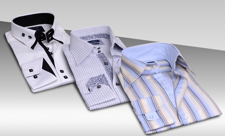 Max Lauren by Brio Men's Solid or Printed Button-Down Shirts. Multiple Styles Available. Free Returns.