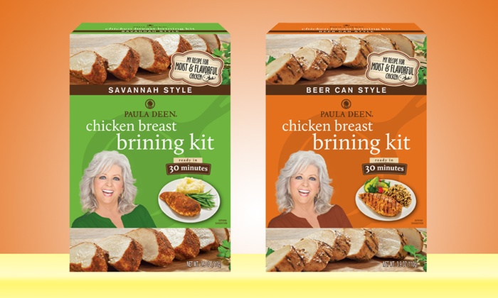 Paula Deen Chicken Breast Brining Kits: 6-Pack of Paula Deen Chicken Breast Brining Kits. Multiple Flavors Available. Free Shipping.