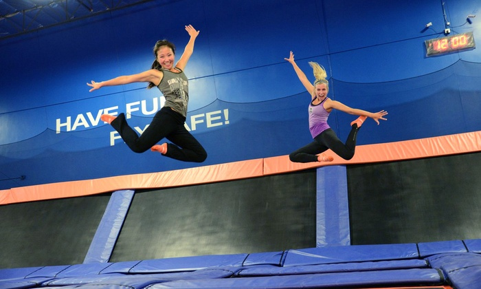 Sky Zone Riverside - Riverside : Two-Hour Open-Jump Sessions for Two on Tuesday–Friday or Saturday or Sunday at Sky Zone Riverside (Up to 60% Off)