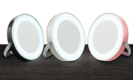 Round LED Travel Mirror