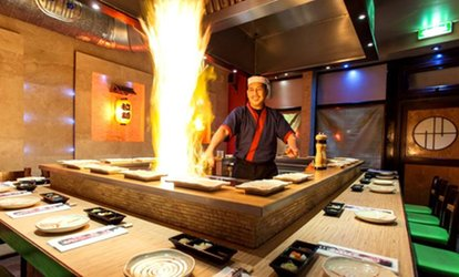 image for Five-Course Teppanyaki Meal For Two with Tea or Coffee at WasabiSabi (40% Off)
