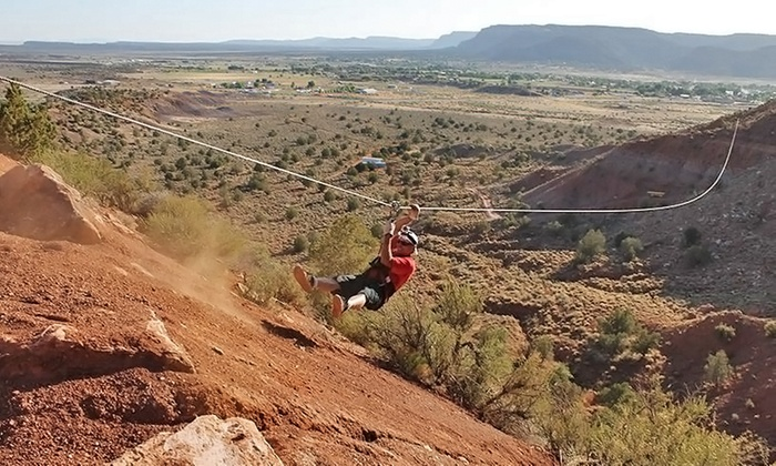 Kanab Zipline - Kanab: Zipline Day-Dweller Package for Two or Four People at Kanab Zipline (Up to 29% Off)