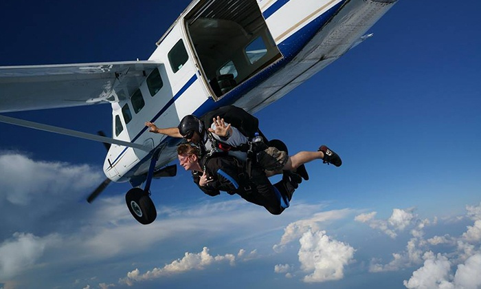 Skydive Alabama - Vinemont: Skydiving Tandem Jump and AFF Ground School for One, Two, or Three  at Skydive Alabama (Up to 58% Off)