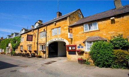 Cotswolds: 1 or 2 Nights for Two with Breakfast, Wine and Optional Dinner at The Crown Hotel