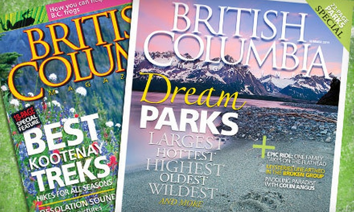 """British Columbia Magazine"" - Victoria: One- or Two-Year Subscription to ""British Columbia Magazine"" (Up to 57% Off)"