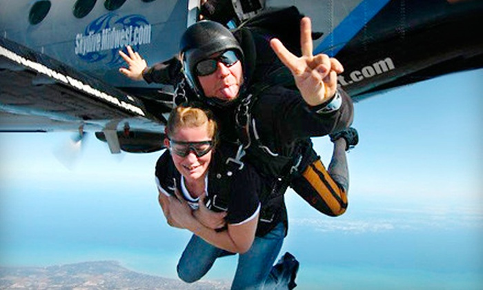 Skydive Midwest - Sturtevant: $149 for a Tandem Jump from Skydive Midwest (Up to $229 Value)
