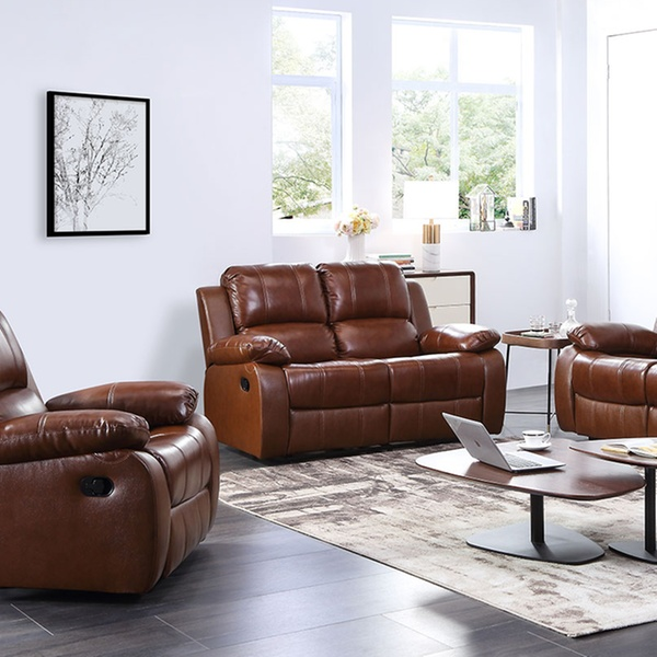 Valencia Leather Recliner Sofa Set