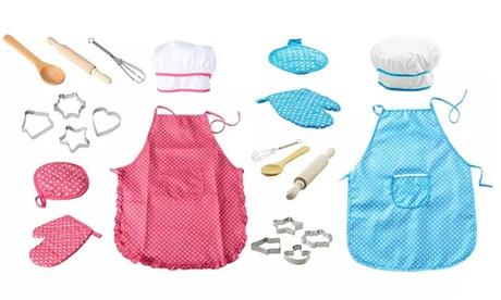 1x oder 2x Koch-Set für Kinder in Rosa oder Blau