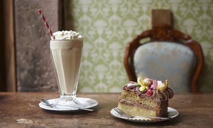 Cake and Milkshake for Two at Cake O' Clock (Up to 42% Off)