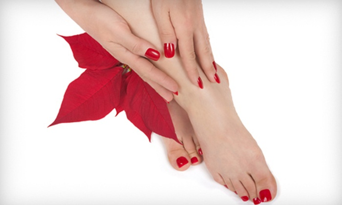 Rose Nails - 1: 80-Minute Spa Mani-Pedi with Optional Facial and Massage at Rose Nails (Up to 55% Off)