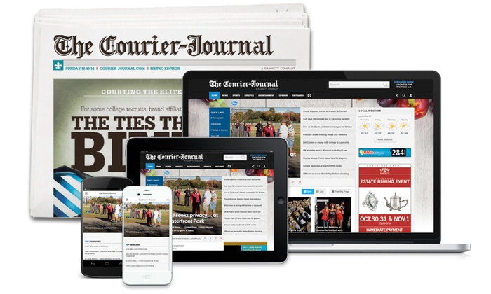 The Courier-Journal: 26-Week or 52-Week Sunday Edition Subscription to The Courier-Journal (Up to 82% Off)