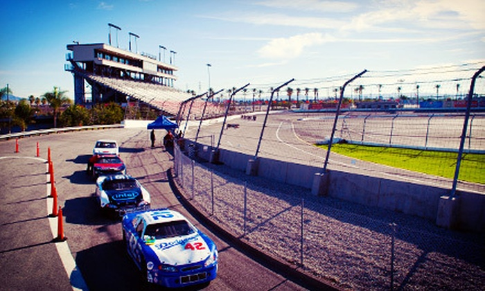L.A. Racing - Irwindale: 20-Lap Stock-Car Racing Experience at for One or Two from L.A. Racing at Irwindale Speedway (Up to 65% Off)