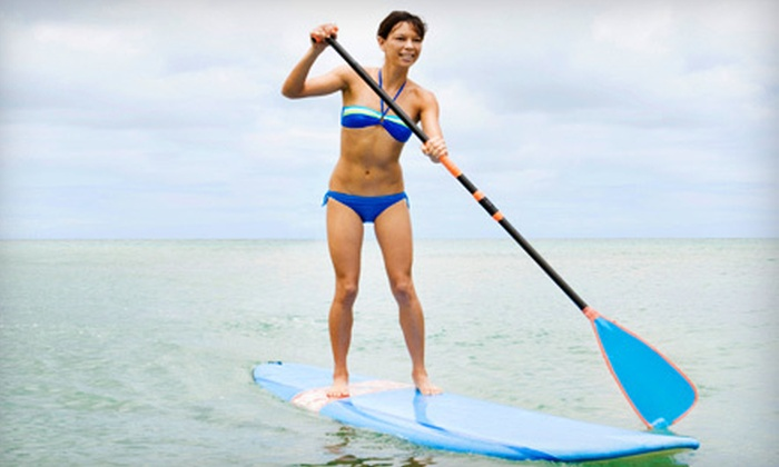 Marina Boat and Bike Rental - Sparks: One-Hour Pedalboat or Paddleboard Rental for Two with Safety Vests at Marina Boat and Bike Rental (Up to 56% Off)