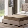 Tufted Platform Wingback Bed